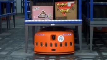 Orange Kiva Systems robots