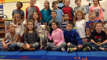 Ryker and the second graders who helped him.