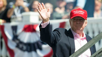 President Trump at the U.S. Women's Open