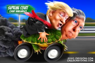 Political Cartoon U.S. Trump McConnell SCOTUS