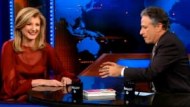 Huffington Post staffers need not worry about a Stewart rally ban. Arianna Huffington, while guest starring on the Daily Show, offered to bus New Yorkers down to D.C. for the event.