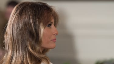 First lady Melania Trump in the White House