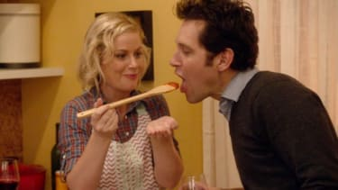 Paul Rudd and Amy Poehler mock the romantic comedy genre in They Came Together