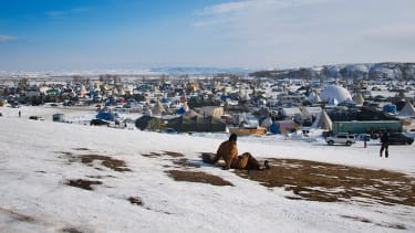 Officials are searching trash left by Dakota Access Pipeline protestors.