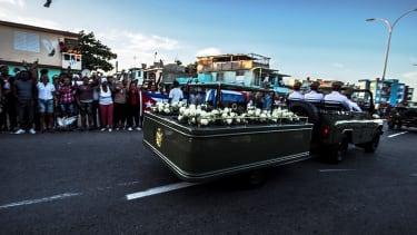 The funeral procession of Fidel Castro