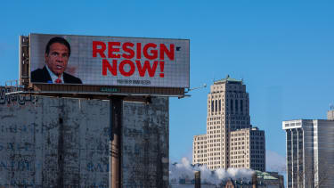 A billboard targeting Cuomo