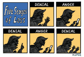 Political Cartoon U.S. Trump loss grief