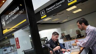 Passport control in Miami.