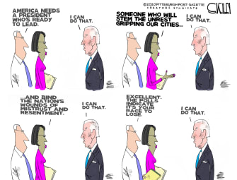 Political Cartoon U.S. Biden 2020 lose