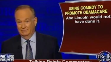Bill O'Reilly: Obama's comedy is unpresidential, because Abe Lincoln