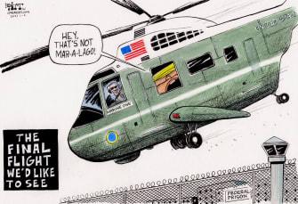 Political Cartoon U.S. Trump prison