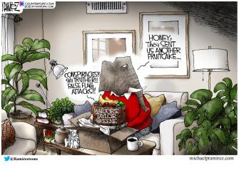 Political Cartoon U.S. marjorie taylor greene gop
