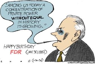 Editorial Cartoon U.S. FDR birthday