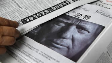 A Chinese newspaper features Donald Trump