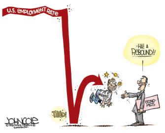 Editorial Cartoon U.S. coronavirus economy rebound