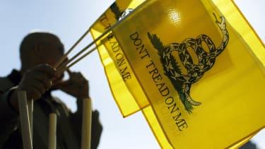 Tea Party flags.