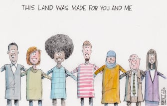 Editorial Cartoon U.S. Biden unity