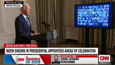 Biden swears in new hires
