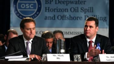 Representatives from BP testify in November during a hearing on the Gulf oil spill.