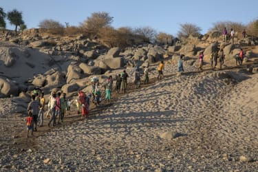 Tigrayan refugees.