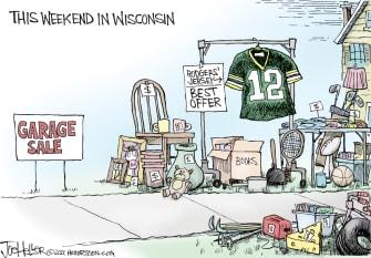 Editorial Cartoon U.S. aaron rodgers green bay packers