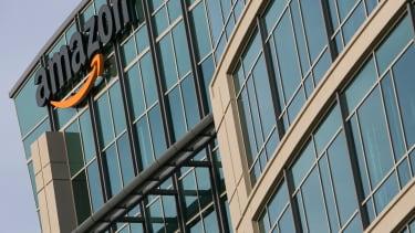 An Amazon office building.