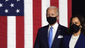 Joe Biden and Kamala Harris.
