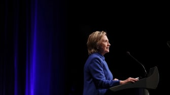 Hillary Clinton speaks at the Children's Defense Fund gala