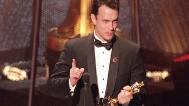 Tom Hanks in 1994 solidifying his status as Hollywood's classiest act.