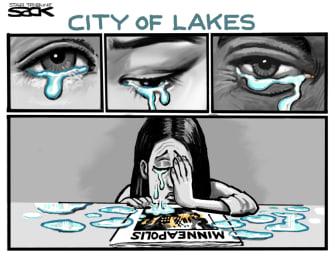 Editorial Cartoon U.S. Minneapolis George Floyd tears