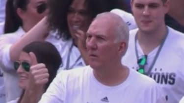 Spurs coach perfectly trolls LeBron James, Miami Heat in championship parade