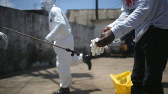 Liberia's president says the country will be Ebola-free by Christmas