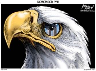 Editorial Cartoon U.S. September 11 remembrance