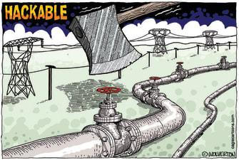 Editorial Cartoon U.S. gas colonial pipeline hack