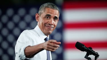 Obama, just pointing out that Obamacare is more popular than Trump.