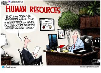 Political Cartoon U.S. Trump COVID treatment