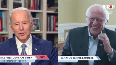 Biden and Bernie in April.
