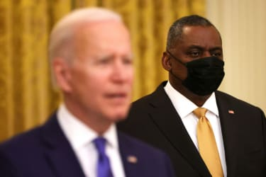 President Biden and Defense Secretary Lloyd Austin
