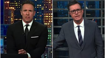 Stephen Colbert and Chris Cuomo wonder about Trump and rape