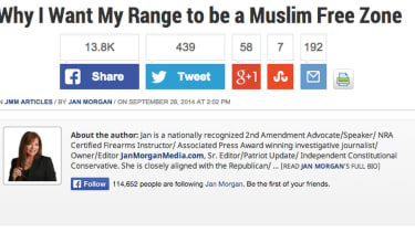 Arkansas shooting range brands itself 'Muslim free zone'