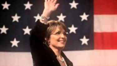 """In the latest ad for SarahPac, Palin says that it """"may take some renegades going rogue"""" to get America back to its """"time-tested truths."""""""