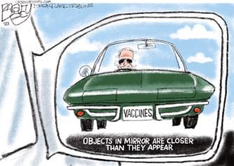 Political Cartoon U.S. biden covid vaccines