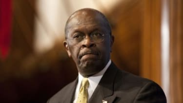 If Herman Cain's alleged 13-year affair ends his presidential campaign, Mitt Romney, who boasts a 42-year marriage, could benefit, some suggest.