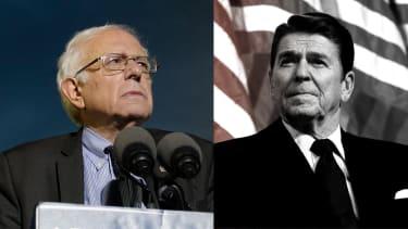 Bernie Sanders, Ronald Reagan.