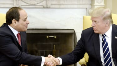 Donald Trump and Egyptian president Abdel Fattah el-Sisi.
