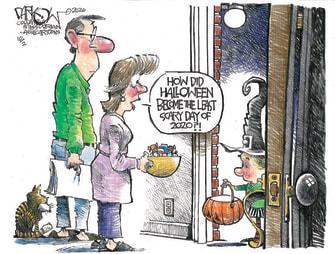 Editorial Cartoon U.S. Halloween 2020