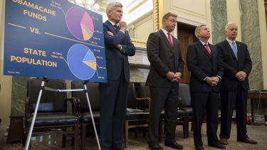 Sen. Bill Cassidy, Sen. Dean Heller, Sen. Lindsay Graham, and Sen. Ron Johnson.