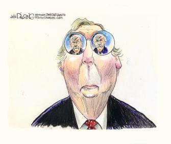 Political Cartoon U.S. Mitch McConnell John Bolton Tinted Glasses