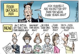 Editorial Cartoon U.S. Ronald Reagan 2020 coronavirus
