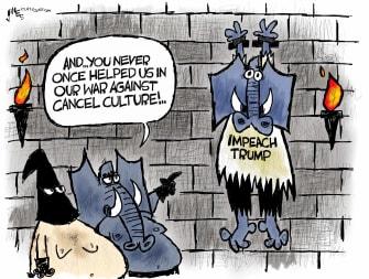 Political Cartoon U.S. GOP trump censure